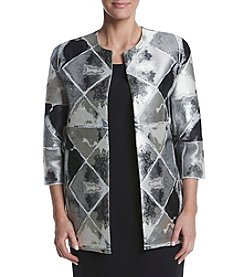 Anne Klein® Metallic Printed Jacket