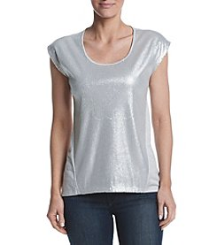 Jones New York® Sequin Front Tee