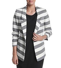 Jones New York® Striped Twill Blazer