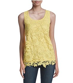 Cupio Lace Front Floral Tank