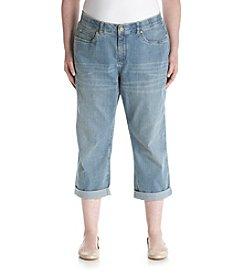 Rafaella® Plus Size Cuffed Cropped Jeans