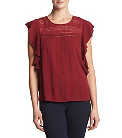 Hippie Laundry Ruffle Peasant Top