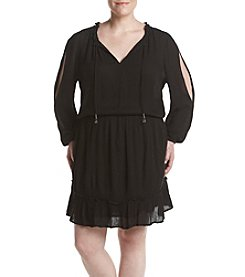 Jessica Simpson Plus Size Gauze Peasant Tunic Top