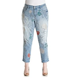 Jessica Simpson Plus Size Embroidered Best Friend Jeans