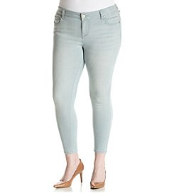 Celebrity Pink Plus Size Streaky Ankle Skinny Jeans