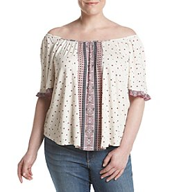Living Doll® Plus Size Off Shoulder Peasant Top