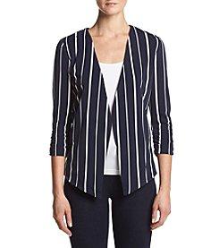 Sequin Hearts® Pleated Stripe Blazer