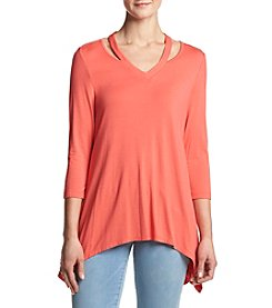 Chelsea & Theodore® V-Neck with Cut-Out Top