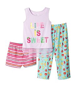 Komar Kids® Girls' 4-16 3-Piece Life Is Sweet Sleep Set