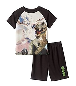 Komar Kids® Boys' 4-16 2-Piece T-Rex Sleep Set