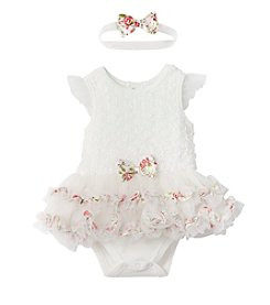 Cuddle Bear® Baby Girls' 2-Piece Dress And Headband Set