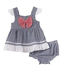 Cuddle Bear® Baby Girls' Gingham Dress Set