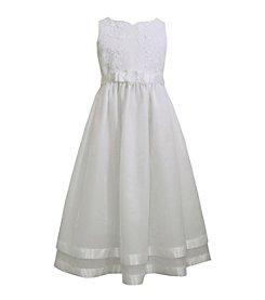 Bonnie Jean® Girls' 7-12 Satin Bodice with Flounce Skirt