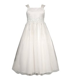Bonnie Jean® Girls' 7-12 Satin Bodice Dress With Tulle Straps
