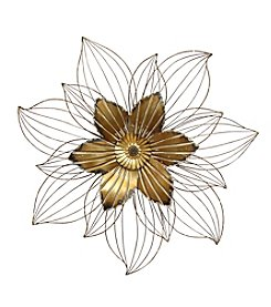 Stratton Home Decor Bronze Flower Wall Decor