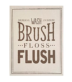 Stratton Home Decor Wash Brush Floss Flush Wall Art