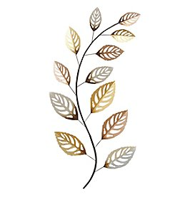 Stratton Home Decor Multicolor Metallic Large Leaf Wall Decor