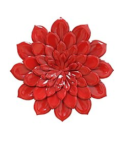 Stratton Home Decor Red Layered Flower Wall Decor