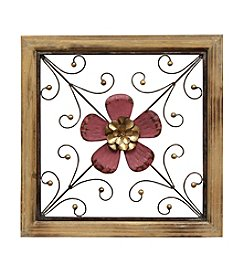 Stratton Home Decor Floral Square Wall Decor