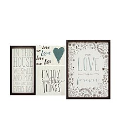 Stratton Home Decor Set of 5 Love is Forever Wall Art