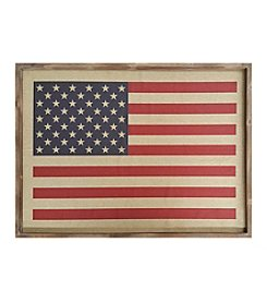 Stratton Home Decor American Flag Wall Art