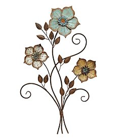 Stratton Home Decor Tricolor Flower Wall Decor