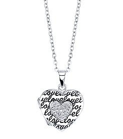 LArocks® Silver Plated Heart Locket Pendant