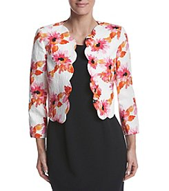 Kasper® Textured Floral Jacket
