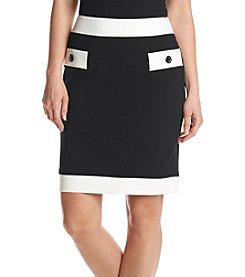 Nine West® Contrast Trim Skirt