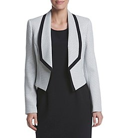 Nine West® Patterned Shawl Collar Jacket
