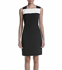Anne Klein® Color Blocked Sheath Dress