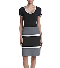 Anne Klein® Fit & Flare Sweater Dress