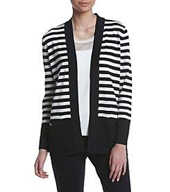 Anne Klein® Striped Malibu Cardigan