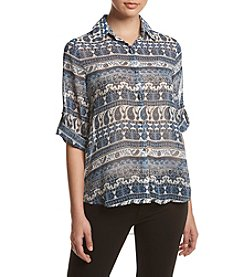 Oneworld® Allover Printed Shirt