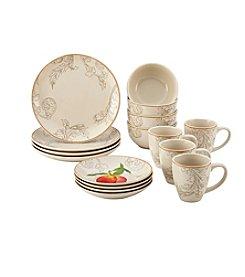 Paula Deen® Orchard Harvest Stoneware 16-Piece Dinnerware Set