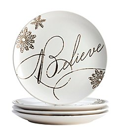 Paula Deen® Stoneware 4-Piece Holiday Dinnerware Set
