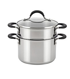 Circulon® Momentum™ Stainless Steel Nonstick 3-Quart Covered Straining Saucepot with Insert