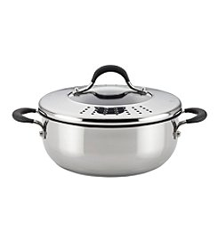 Circulon® Momentum™ Stainless Steel Nonstick 4-Quart Covered Casserole with Locking Straining Lid