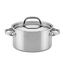 Anolon® Tri-Ply Clad Stainless Steel 3.5-Quart Covered Saucepot
