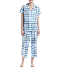 KN Karen Neuburger Plaid Pajama Set