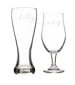 Cathy's Concepts Hubby & Wifey Pilsner Set