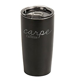 Cathy's Concepts Carpe Caffeine Stainless Steel Double-Walled Tumbler