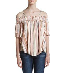 Living Doll® Off-Shoulder Stripe Top