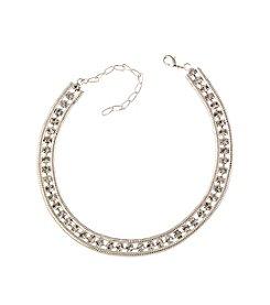 BT-Jeweled Clear Crystal Rhinestone Choker Necklace