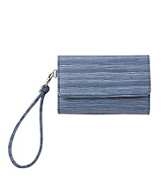 Relativity® Suede Embossed Midi Cell Wristlet