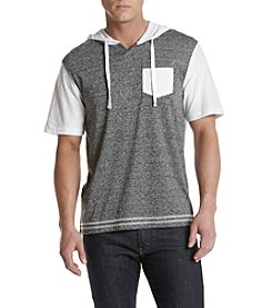 Distortion® Men's Hooded Contrast Short Sleeve Tee