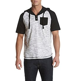 Distortion® Men's Short Sleeve Hooded Henley