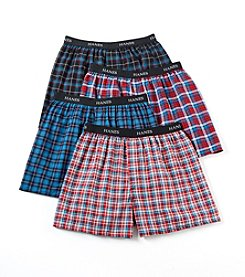 Hanes® Men's Fashion Plaid Boxers