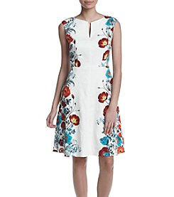 Adrianna Papell® Floral Fit And Flare Dress