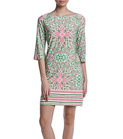 Taylor Dresses Geo Flower Shift Dress